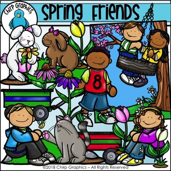 Spring Friends Clip Art Set - Chirp Graphics