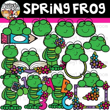 Spring Frog Clipart {Frog Clipart}