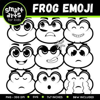 Spring Frog Emoji Clip Art