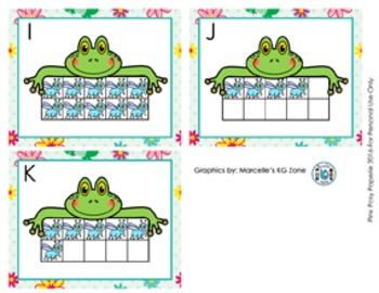 Spring Frog Ten Frames Count the Room