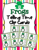 Spring Frog Time to the Hour Clip Cards