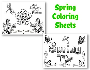 Spring Fun/Activity Sheets