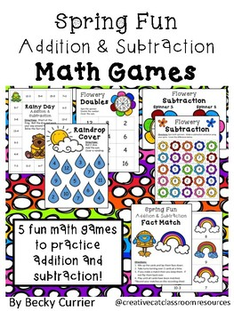Spring Fun Addition and Subtraction Games