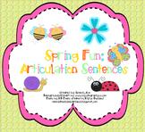 Spring Fun: Articulation Sentence (R, S, L, TH, CH, SH)