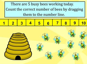 SMART Board Math:  Busy Bees Spring Counting and Addition