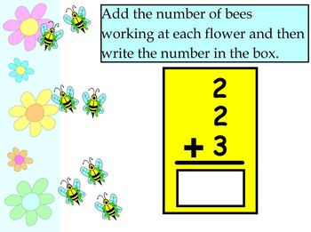 SMARTboard Math:  Busy Bees Spring Counting and Addition