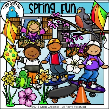 Spring Fun Clip Art Set - Chirp Graphics