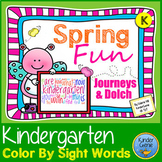 Spring Color By Sight Words - Kindergarten Journeys Units 4-6 & Dolch
