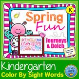Spring Color By Sight Words - Kindergarten Journeys Units