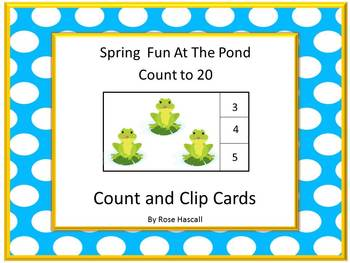 Task Cards Spring Fun Count to 20  P-K, K, Math Center Spe