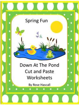 Spring Fun At the Pond Cut and Paste No PREP Printables fo