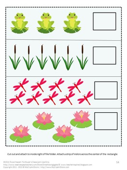 Spring Fun at the Pond Math and Literacy Interactive File Folder Games