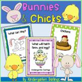 Spring Fun: Eggs & Bunnies Literacy Unit- Emergent Readers