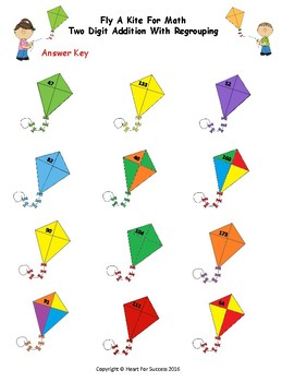 Spring Fun: Fly A Kite For Math (Two Digit Addition With Regouping)