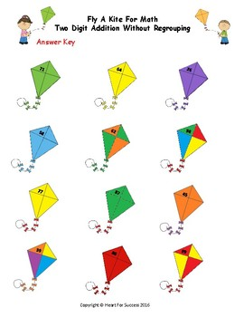 Spring Fun: Fly A Kite For Math (Two Digit Addition Without Regrouping)
