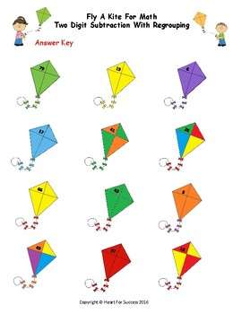 Spring Fun: Fly A Kite For Math (Two Digit Subtraction With Regrouping)