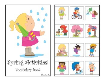 Spring Fun! Interactive Vocabulary Books
