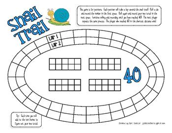 Spring Fun Math Games for 1st Grade - Ten April and May board games
