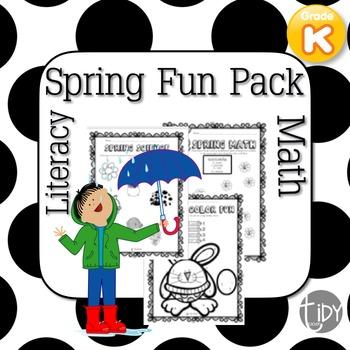 Spring Printables: Kindergarten