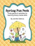 Spring Fun Pack: Seasonal Library Skills Activities