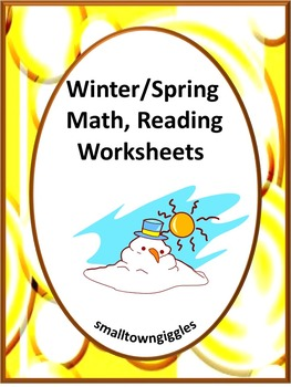 Winter & Spring, Math & Literacy, Morning Work, Special Education, Kindergarten