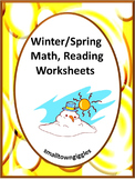 Winter Math Centers, Printable Worksheets, Kindergarten, Special Education