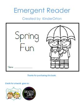 Spring Fun - emergent reader