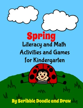 Spring Fun printable literacy and math centers