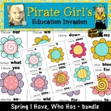 "Spring Funky Flowers ""I Have"" Game Packet"