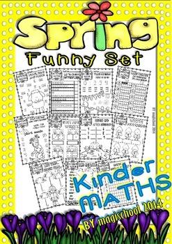 Spring Funny Kinder/1st Maths Printables (Numbers 0-10)