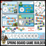 Spring Game Board Game Builder Template Clip Art - for Cards or Spinners