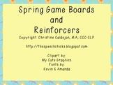 Spring Game Boards & Reinforcer Pages