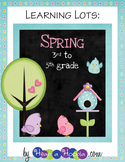 Spring Games and Activities for Third, Fourth and Fifth grades