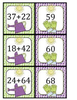 Spring Garden - 2 digit addition