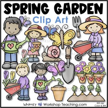 Spring Garden Kids Clip Art
