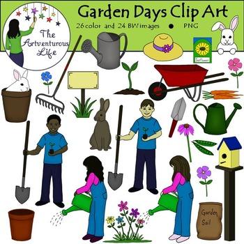 Spring Garden Clip Art