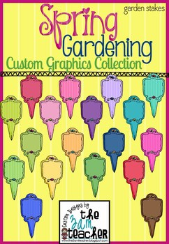 Spring Garden Clip Art - Garden Stakes!!!
