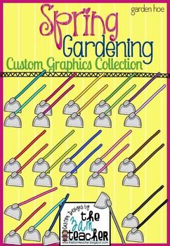 Spring Garden Clip Art - Gardening Hoe