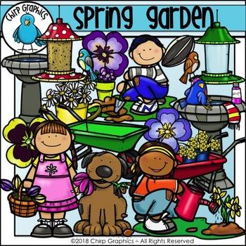 Spring Garden Clip Art Set - Chirp Graphics