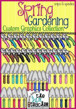 Spring Garden Clip Art: Snips & Spades