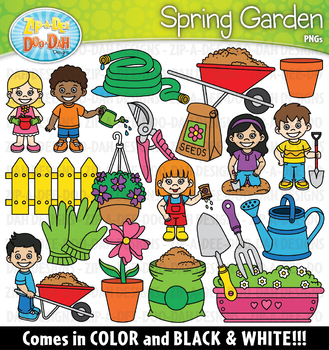 Spring Garden Clipart Set {Zip-A-Dee-Doo-Dah Designs}