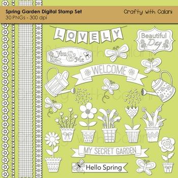 Spring Garden Digital Stamp Set