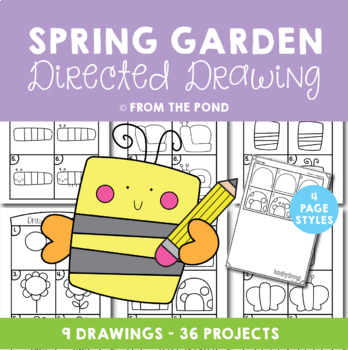 Springtime Garden Directed Drawing By From The Pond Tpt