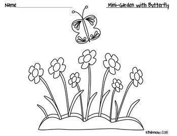 Spring Flowers Following Directions Freebie