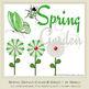 Spring Garden Green 1 Bird Ladybug Butterflies Flowers & Word Art