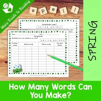 Spring Garden: How Many Words Can You Make?