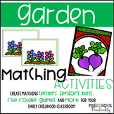 Spring Garden Matching Activities:  Letters, Shapes, Colors, and More