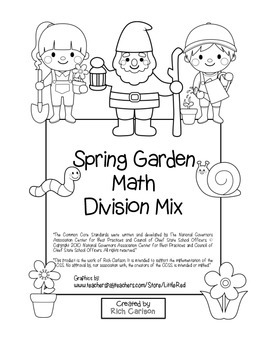 """""""Spring Garden Math"""" Mixed Division – Common Core - Divisi"""