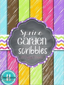 Spring Garden Scribbles ~ Digital Paper