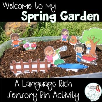 Spring Garden Sensory Bin for Speech and Language